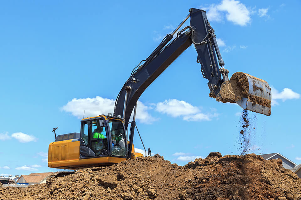Our residential excavation services include basements, sewer systems and foundation.