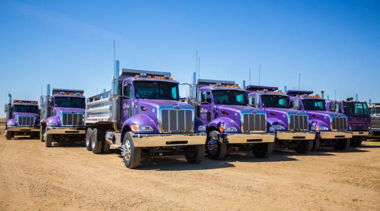 Purple Gravel Trucks