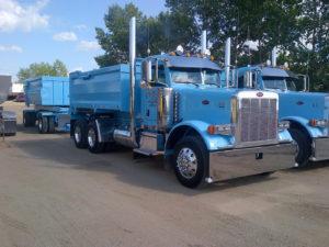 Teal Gravel Trucks