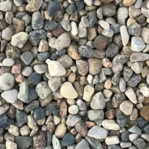 10mm washed rocks pea stones.