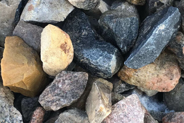 One and a half inch crushed rocks.