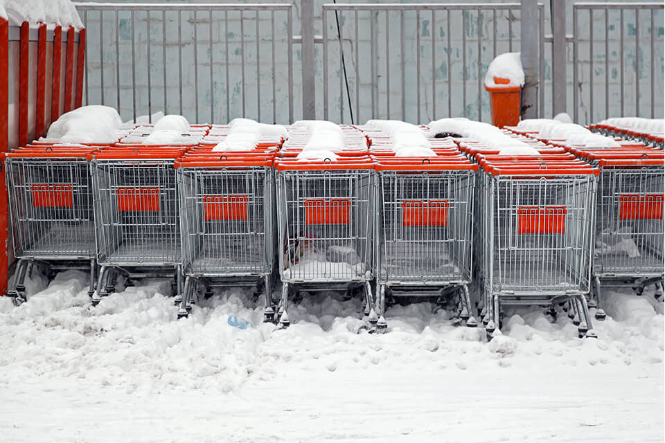 Not clearing snow from your property makes your business look bad.