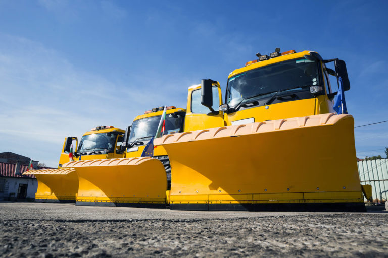 Snow Plows on Dry Pavement