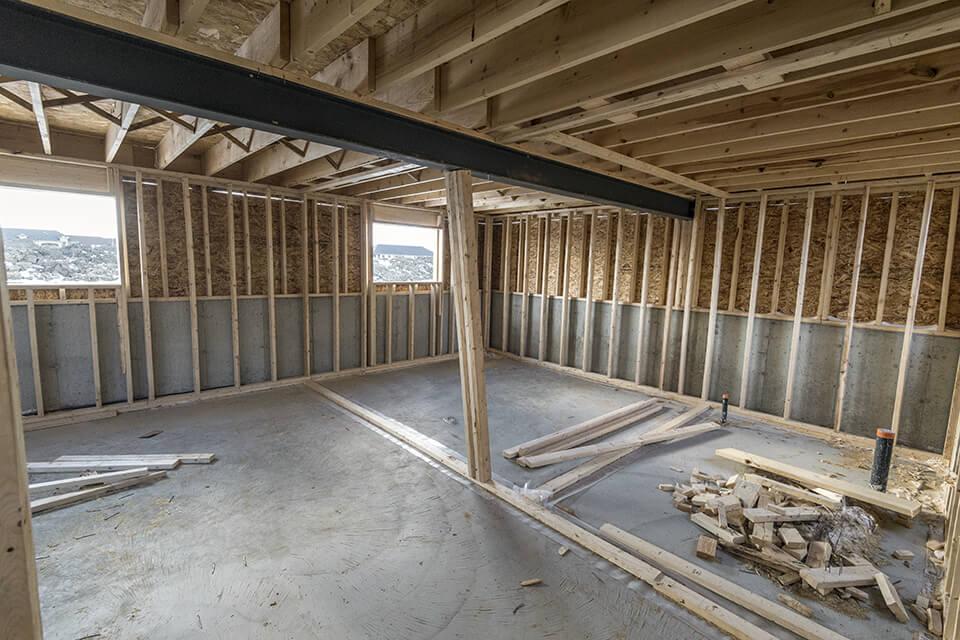 Radon gas may enter house through cracks in foundation.